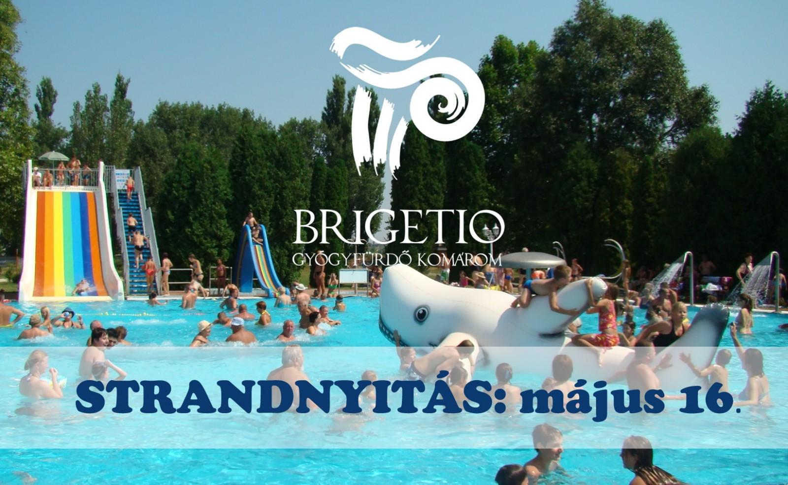 112e501886 Strandnyitás: május 16-tól | Brigetio Gyógyfürdő Komárom